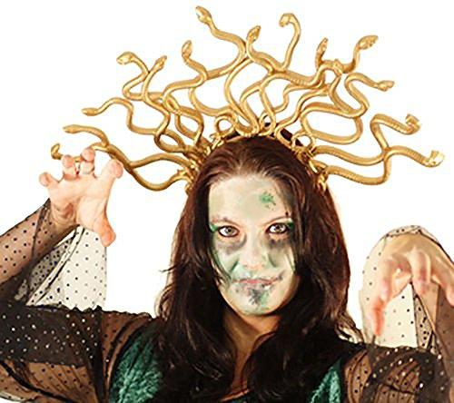 Halloween-Stage-Dance-Panto-Medusa Headdress-Greek Mythology MEDUSA SNAKE HEADDRESS - Fancy Dress Accessory