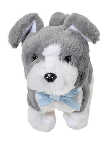 Home-X Grey Schnauzer Electric Dog Toys Interactive Pets Stuffed Animals