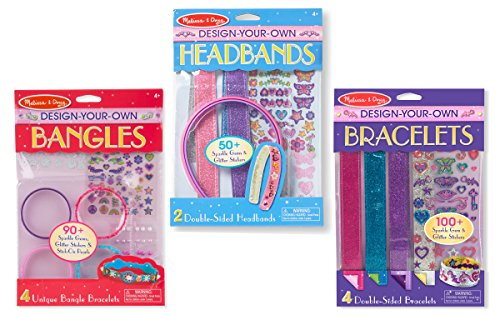 Melissa Doug Design-Your-Own Jewelry-Making Kits - Bangles Headbands and Bracelets