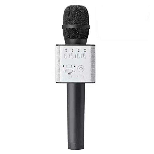 GOTD Q9 Wireless Bluetooth Karaoke Microphone Mini Speaker Home KTV Stereo USB Player Black