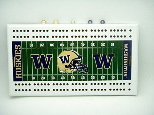 Washington Huskies Field Cribbage Board