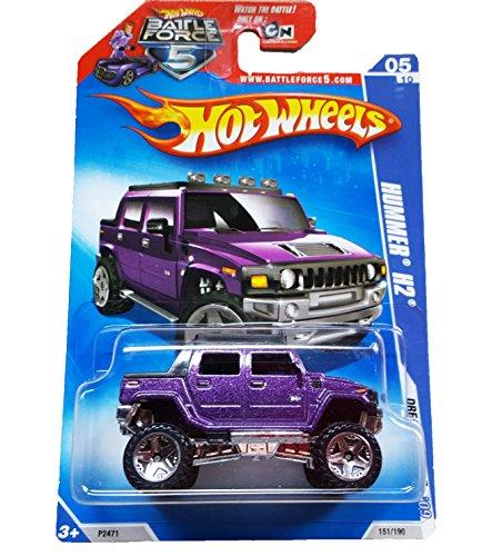 Hot Wheels - 151190 - Dream Garage 09 0510 - Hummer H2 purple on Battleforce Card