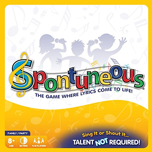 Spontuneous Family Party Board Game - The Game Where Lyrics Come to Life For Kids Children Teens Adults Families