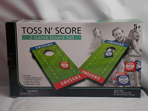 Toss - n - Score End zone Cornhole Bean Bag Football Board game