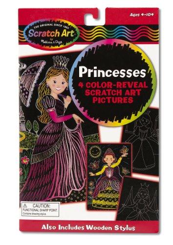 Melissa Doug Scratch Art Color Reveal Pictures - Princess