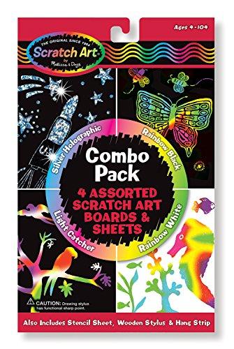 Melissa Doug Scratch Art Magic Combo 4-Pack
