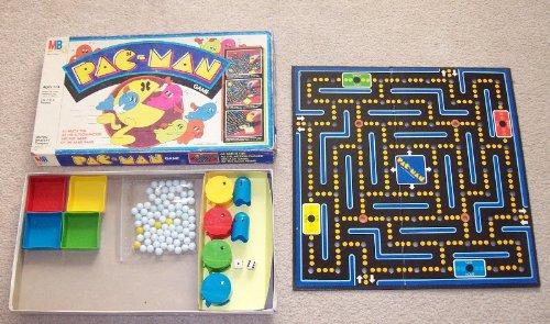 1980 Pac-Man Game Vintage Board Game by Milton Bradley