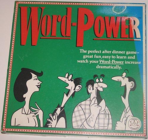 Crown Andrews Word-Power Vintage Board Game