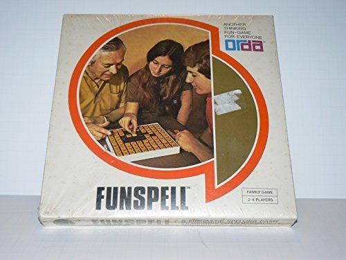 Funspell Vintage Board Game By Orda Scrabble Type Tile Game