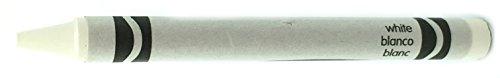50 White Crayons Bulk - Single Color Crayon Refill - Regular Size 516 x 3-58
