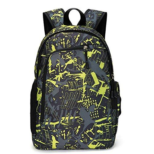 Joda Fashion School Backpack Bookbag for Middle High School Boys and Girls Yellow