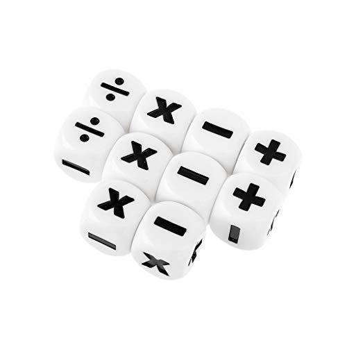 10pcs 16mm D6 Dice Mathematical Arithmetic Dice Operators Club DND Dice Set Dice Games