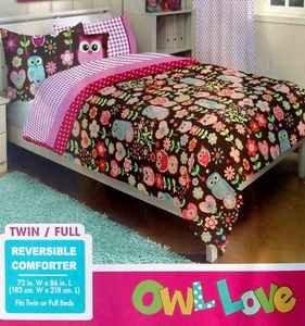 American Kids Owl Twinfull Microfiber Bedding Comforter