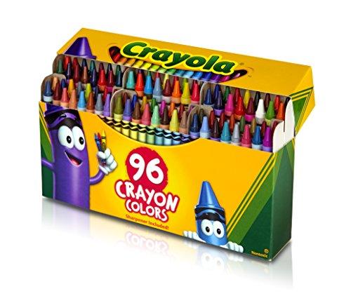 Crayola Crayons Art Tools 96 ct Durable Long-Lasting Colors Built-in Sharpener