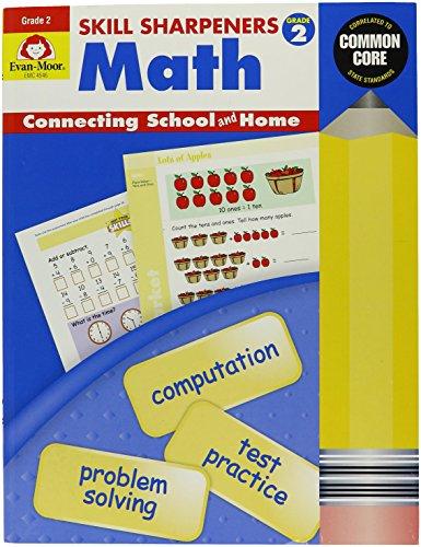 EVAN-MOOR 4546 Skill Sharpeners Math Book Grade 2 05 Height 85 Width 11 Length