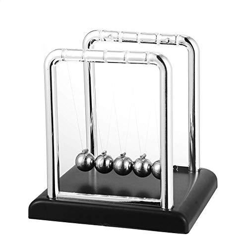 Xinqueen Metal Stainless Steel Scientific Newton Black Base Household Cradle Balance Billiards Balls
