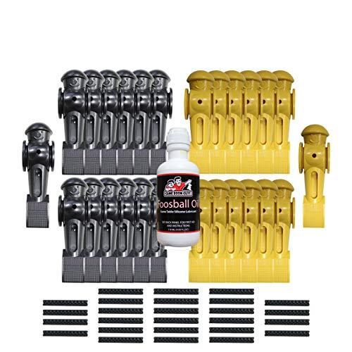 Game Room Guys Foosball Oil - 26 YellowBlack Tornado Men with Roll Pins