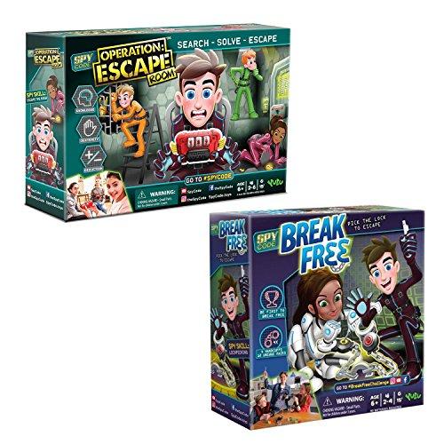 Spy Code Operation Escape Room And Break Free Board Game Bundle