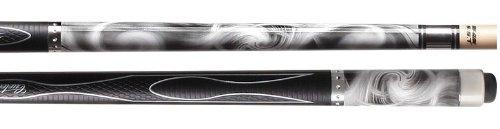 Cuetec Gen-Tek Series 58 2-Piece Canadian Maple BilliardPool Cue Silver Swirl