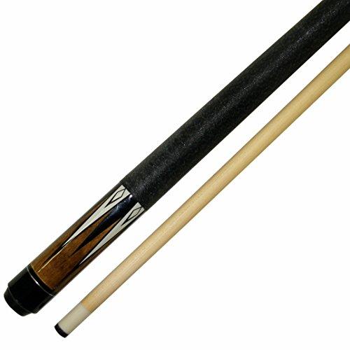 Iszy Billiards BND-01-48-19 Short 48 2Piece Hardwood Maple Pool Cue Billiard Stick 19 Oz Brown