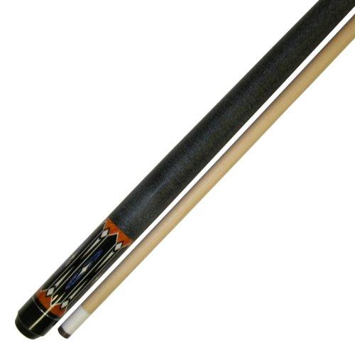 Iszy Billiards 58-Inch Hardwood Canadian Maple Pool Cue Billiard Stick with Irish Wrap 2-Piece Black 20-Ounce