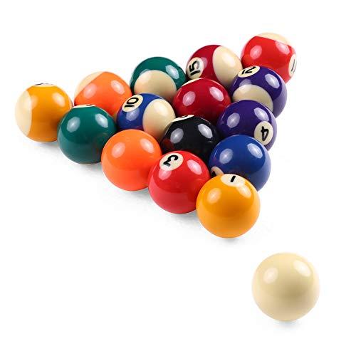 Godyluck 25MM  32MM  38MM Children Billiards Table Balls Set Resin Small Pool Cue Balls Full Set