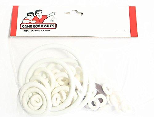 Gottlieb Bumper Pool Pinball White Rubber Ring Kit