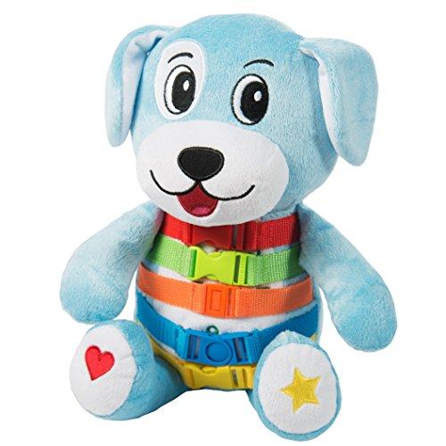 BUCKLE TOY Barkley Dog - Toddler Early Learning Basic Life Skills Childrens Plush Travel Activity