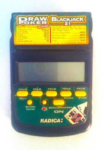 Radica Draw Poker  BlackJack Model 2812 CS6BA Electronic Handheld Game