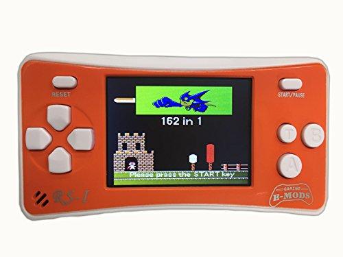 NEW Version E-MODS GAMINGÂ 8-Bit Retro 25 LCD 162x Video Games Portable Handheld Console ORANGE