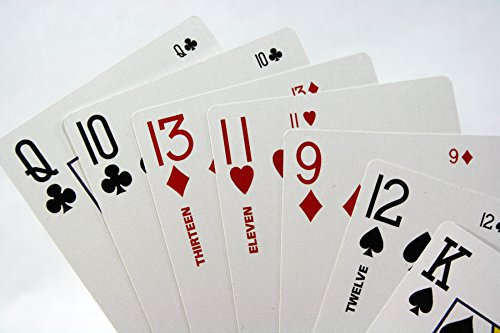 Two2Six Playing Card Deck - Play Six 6 Handed 500 Super Solitaire or Party Poker Games with More People - Includes 68 Cards in All 52 Regular the 11s 12s 13s and 4 Jokers