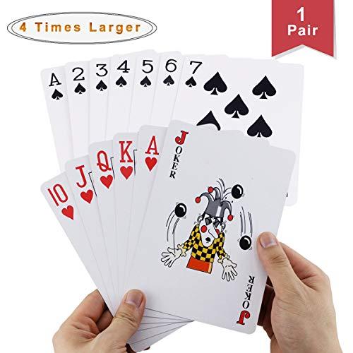 Faxco 66 x 46 Large PokerFour Times Large PokerJumbo Deck of Big Playing Cards Fun Full Poker