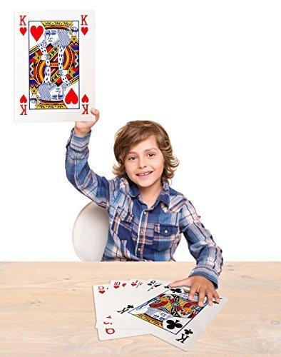 Forum Novelties Mega Jumbo Face Extra Large Playing Cards- 11 X 8 Big Full Deck