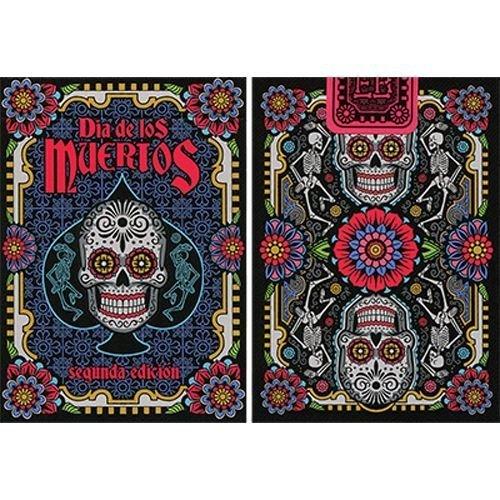 Dia de los Muertos Black Playing Card 2nd Edition by USPCC