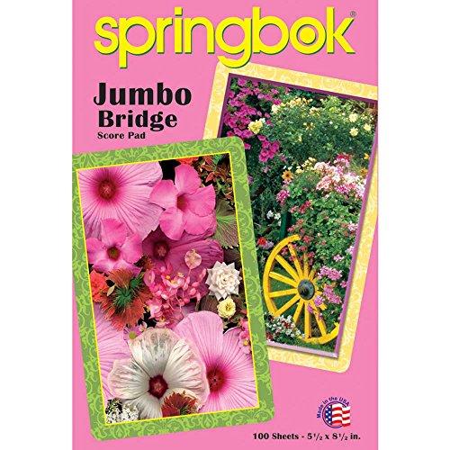 Springbok Puzzles Blooming Cart Jumbo Print Playing Card Score Pad 100 Sheets