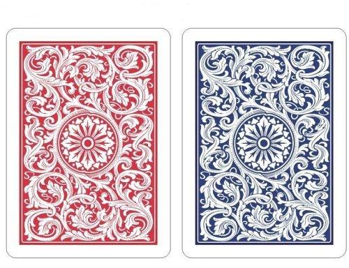 Copag 2-Deck Plastic Poker Playing Cards Set 1546 RedBlue Design