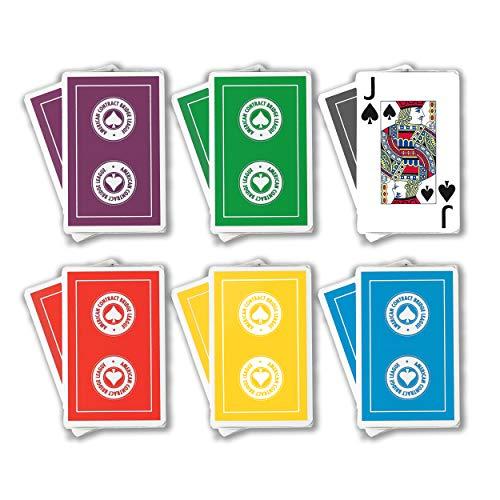 ACBL American Contract Bridge League Playing Cards - Jumbo Print - 1 Dozen Decks - Bridge Sized - Plastic Coated