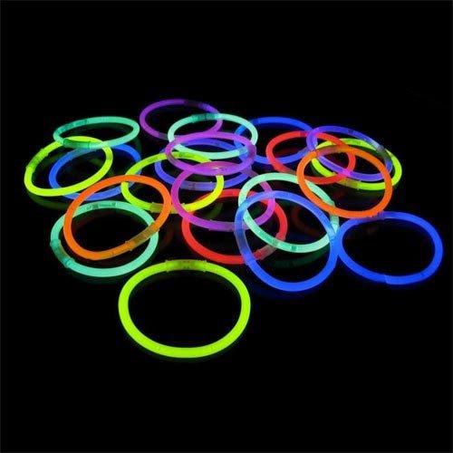 100 22 Glow Light Stick Necklaces WHOLESALE PACK