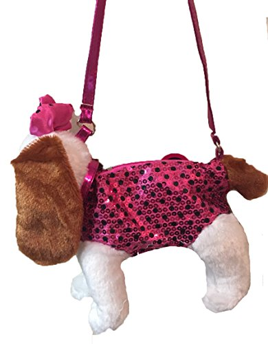 Poochie Co Girls Plush Sequin Kitty Purse Pink cn21753