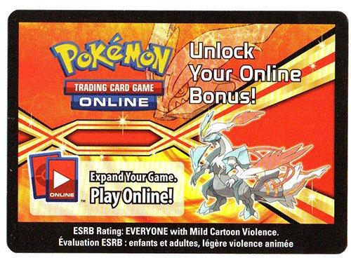 White Kyurem EX  Booster Code Card Pokemon Trading Card Game Online PTCGO