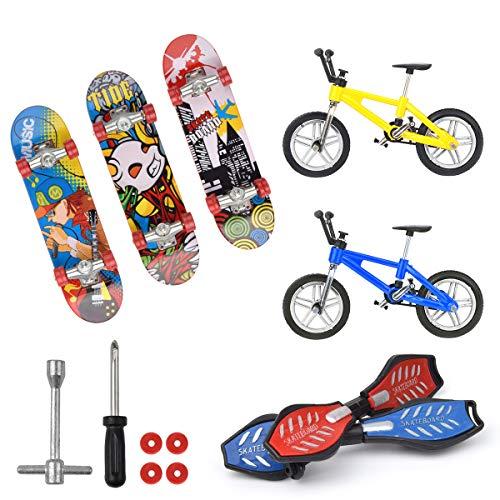 Hotusi Mini Finger Sports SkateboardsBikesSwing Boards for Party Favors Educational Finger Toy