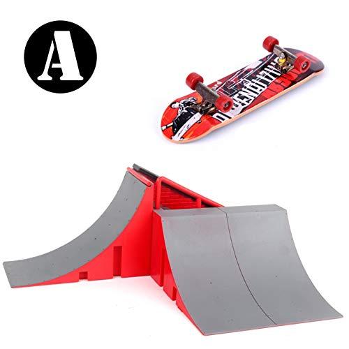 Novobey Mini Finger Skateboard Skate Park Kit Ramp Parts Desk Mini Fingerboard Toy for Kids and Adults