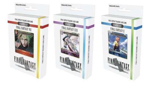 Final Fantasy Trading Card Game Set of 3 Starter Decks FFX Wind Water FFVII Fire Earth FFXIII Ice Lightning