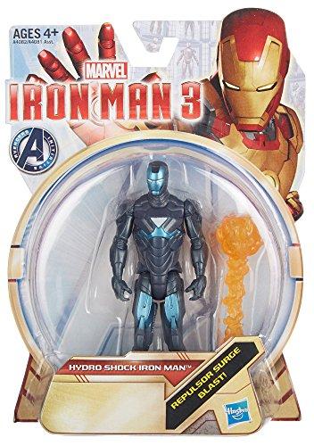 Iron Man 3 Hydro Shock Iron Man 375 inch Action Figure by Hasbro