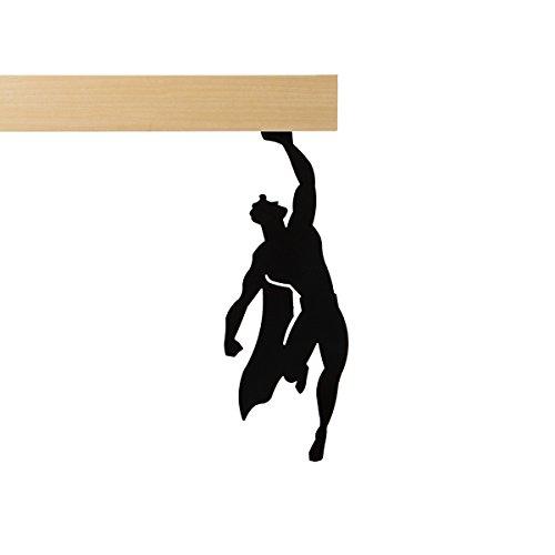 Artori Design - Super Holder - Black Metal superhero figurine for decoration christmas gift for geeks