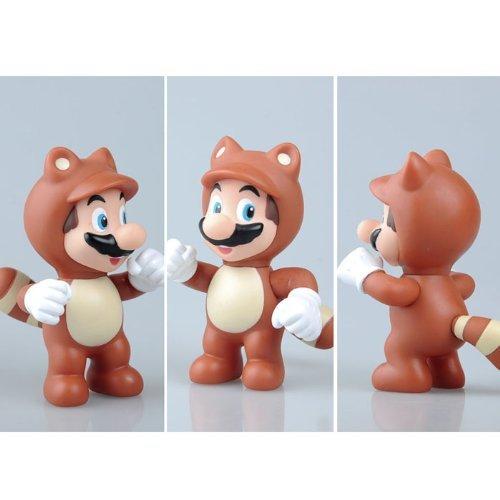 Super Mario Brothers Character 4 Tanooki Mario PVC Plastic Toy Figure