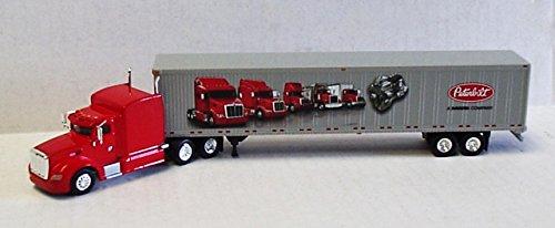 ADVERTISER PETERBILT 386 DRY VAN TRAILER TONKIN 187 Diecast Truck HO Scale