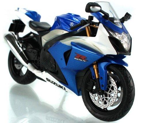 112 Suzuki GSX-1000R Diecast Motorcycle Blue Color