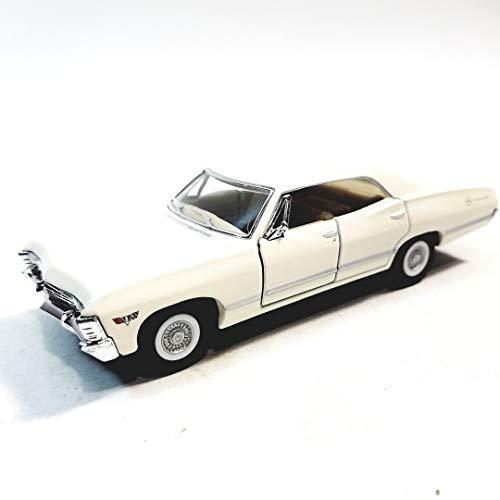 Kinsmart Eggshell White 1967 Chevy Impala 2 Door Hardtop 143 O Scale Diecast Car