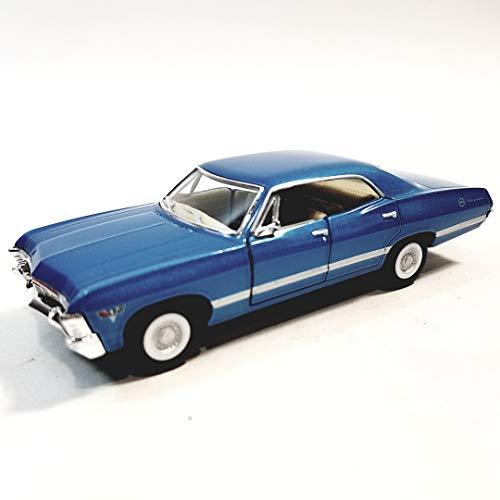 Kinsmart Powder Blue 1967 Chevy Impala 2 Door Hardtop 143 O Scale Diecast Car